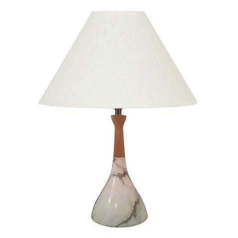 Mid-Century Marble Lamp - Image 1 of 4