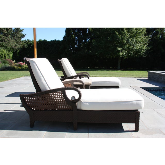 Century Denpasar Articulating Chaises - Pair With Side Table - Image 3 of 5