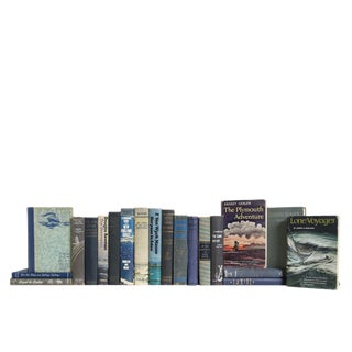 Vintage Evening Squall Nautical Book Set (S/20) For Sale
