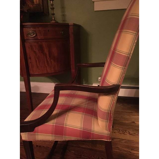 George Hepplewhite Early 19th Century Vintage Hepplewhite Lolling Chair For Sale - Image 4 of 9