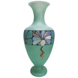 Biancalani Elio Graniglia Art Glass Vase From Florence, Italy For Sale