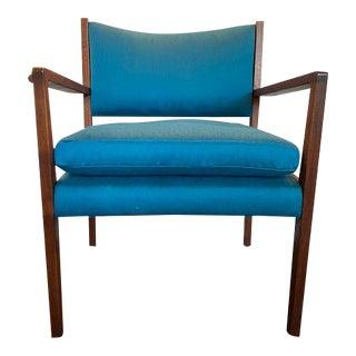 Mid Century Modern Walnut Arm Chair For Sale