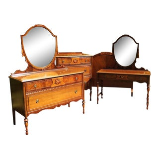 Art Deco Berkey and Gay 4 Piece Full Bedroom Suite
