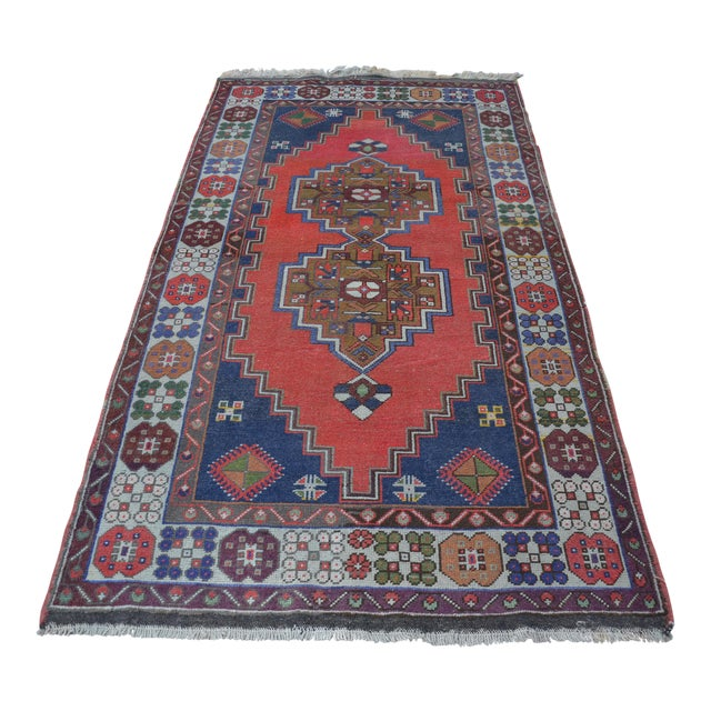 Vintage Turkish Handmade Rug - 4′1″ × 7′8″ - Image 1 of 6