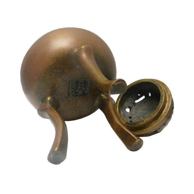 Chinese Handmade Bronze Incense Burn - Image 4 of 5