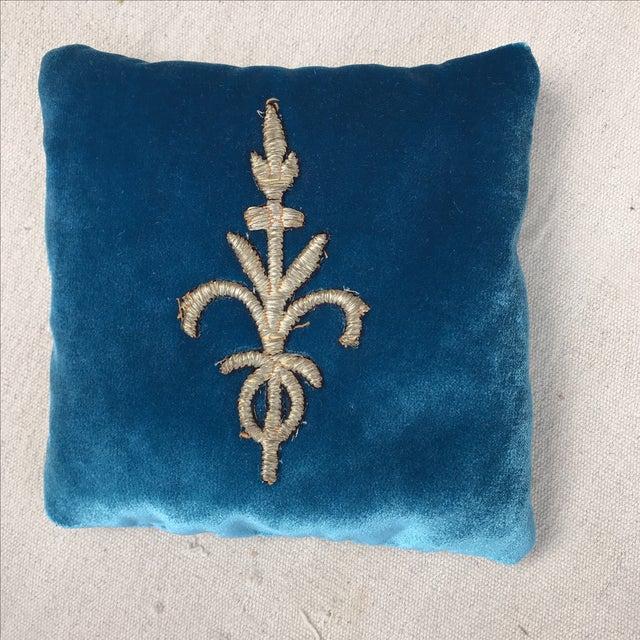 Silk Velvet Lavender Sachet With Applique - Image 2 of 4