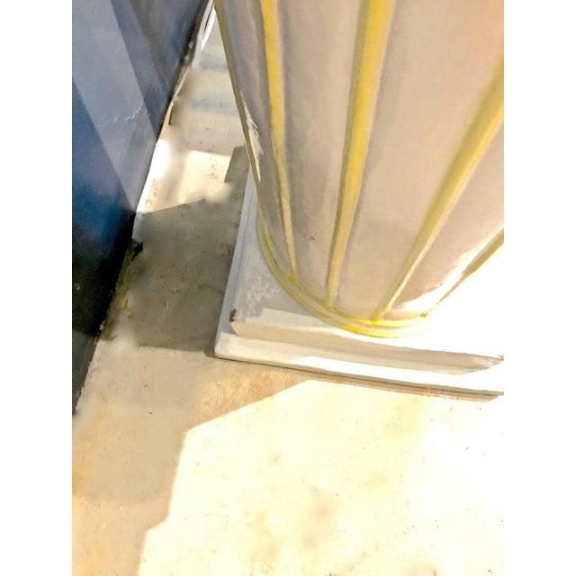 Ceramic Italian Glazed Terra Cotta Urn on Pedestal For Sale - Image 7 of 10