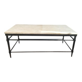 Contemporary Ethan Allen Vida Stone-Top Coffee Table For Sale