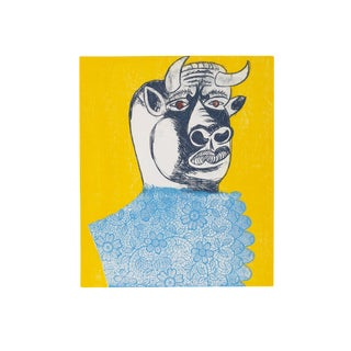 "Enrico Baj, ""Chez Picasso 7"", Colorful Modern Print For Sale"