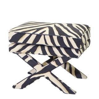 Eichholtz Cordoba Zebra Ottoman For Sale