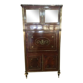Louis XVI Style 'A Abbatant' Fall Front Mahogany Secretaire Desk For Sale
