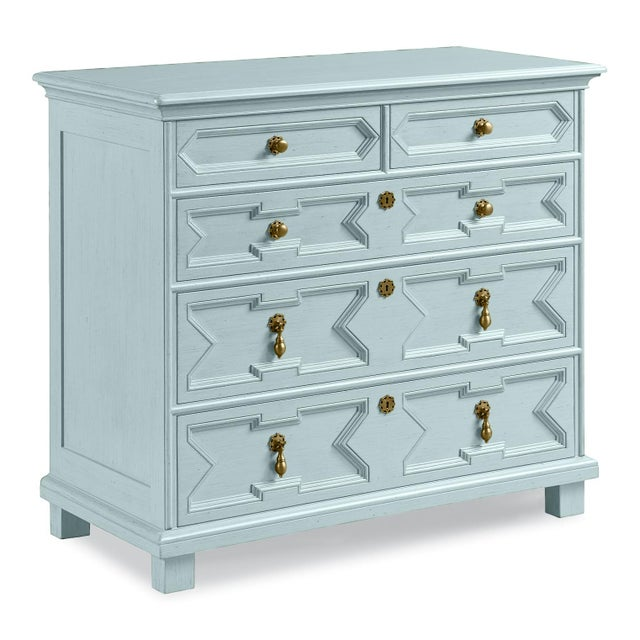 Casa Cosima Casa Cosima James Chest of Drawers, Palladian Blue For Sale - Image 4 of 4