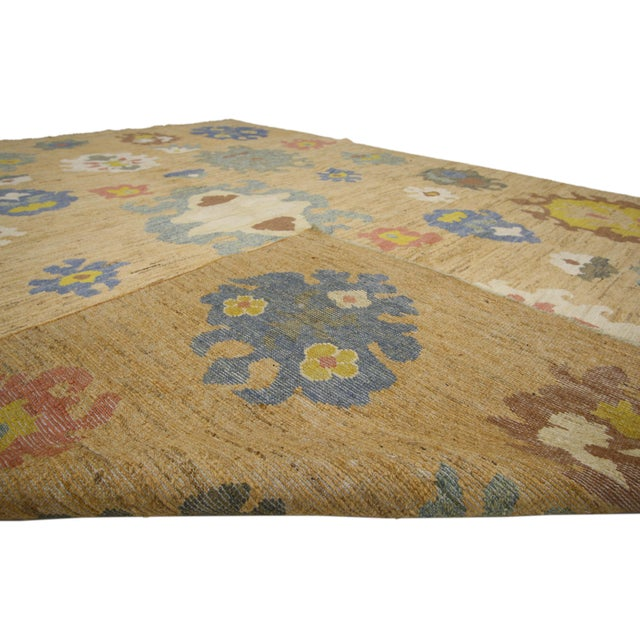 Early 21st Century Colorful Turkish Oushak Rug - 8′3″ × 11′ For Sale - Image 5 of 7