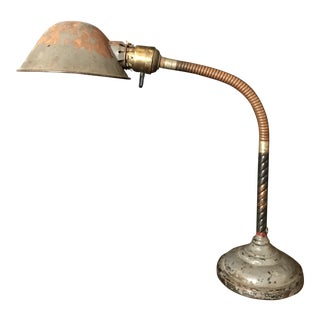 1890's Early Faries Mfg. Co. Goose Neck Task Lamp For Sale