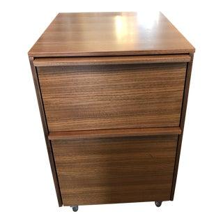 Bdi Cascadia Mobile File Cabinet in Walnut Finish For Sale