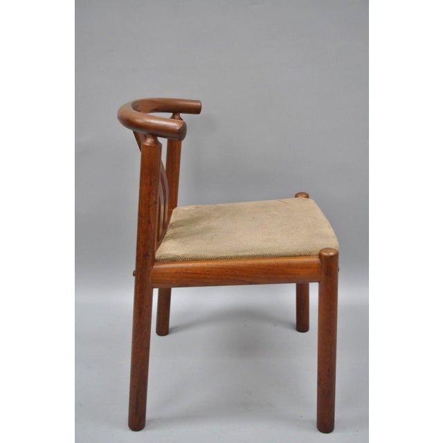 Uldum Danish Modern Teak Curved Back Rosewood Inlay Dining Chairs - Set of 6 For Sale - Image 10 of 12