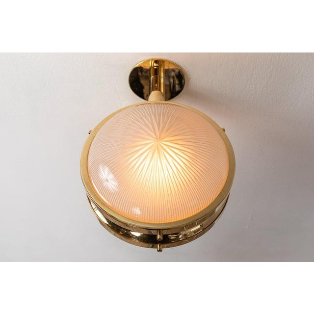 Gold 1960s Sergio Mazza Brass 'Gamma' Wall or Ceiling Lights for Artemide For Sale - Image 8 of 13