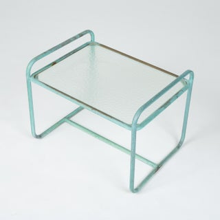 Bronze End Table With Hammered Glass Top by Walter Lamb for Brown Jordan Preview