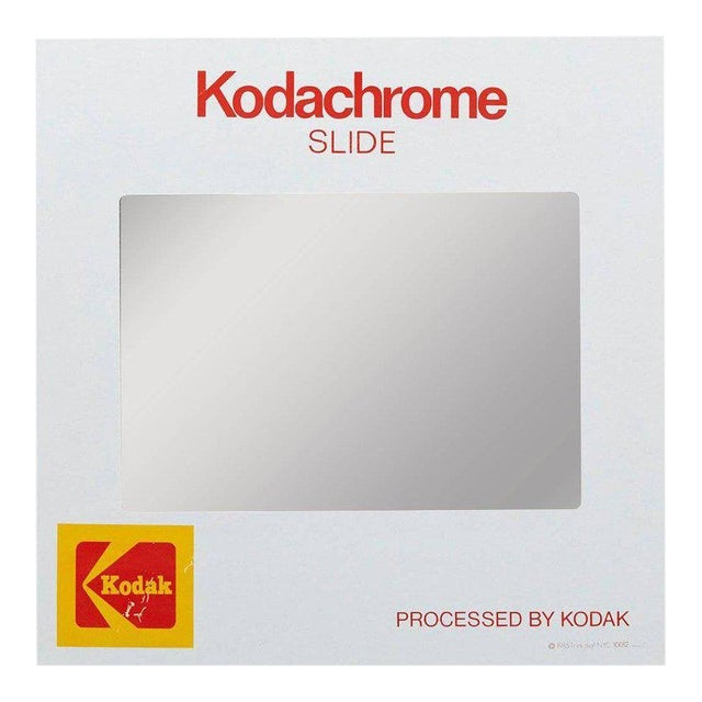 Think Big! Kodachrome Slide Mirror With Integrated Cabinet, 1980's For Sale