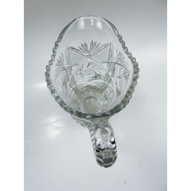 Antique Press Glass Pitcher For Sale In San Antonio - Image 6 of 7