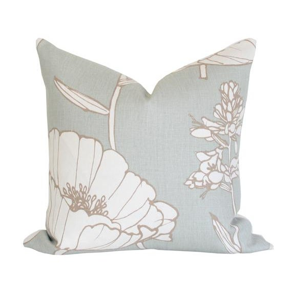 Luxury designer pillow covers. INSERT NOT INCLUDED. Size: 20x20 Quantity: 2 pillow covers Fabric Details: 100% Linen...
