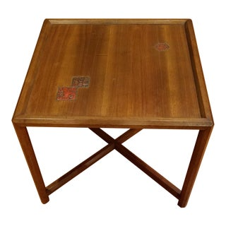 Dunbar End Table by Edward Wormley With Natzler Tiles For Sale