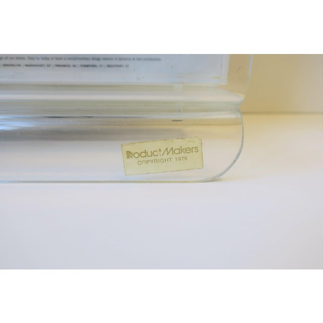 Clear Acrylic Magazine Holder, Circa 1976 For Sale - Image 4 of 13