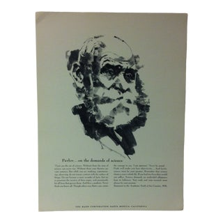 """1962 """"Pavlov - on the Demands of Science"""" The Rand Corporation Famous People in History Print For Sale"""