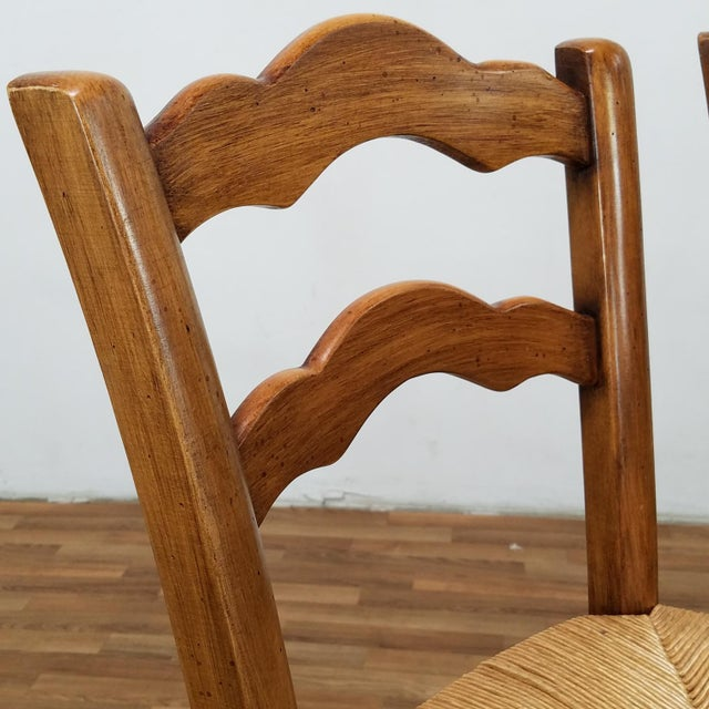 Italian Rattan and Wicker Barstools - Set of 4 For Sale - Image 4 of 13