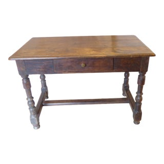 19th Century French Rustic Walnut Work Table For Sale