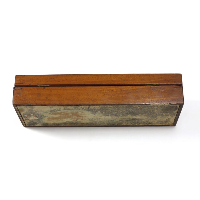Boxwood 19th Century Victorian Inlay Mahogany Cribbage Board Game Box For Sale - Image 7 of 13