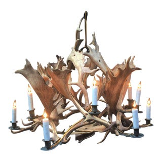 Mid-19th Century Antler Chandelier