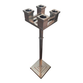20th Century Pewter Candelabra
