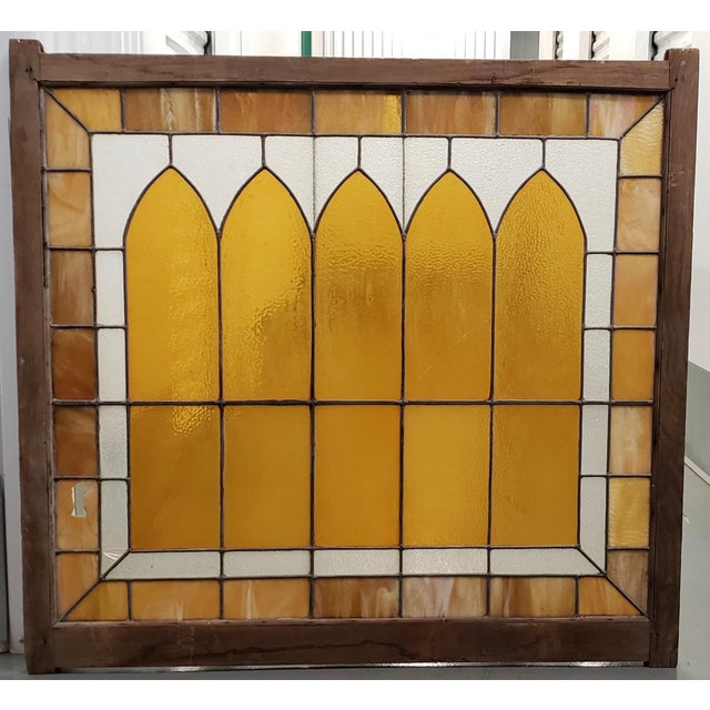 Large Late 19th Century Stained Glass Window Panel C.1880 For Sale - Image 12 of 12