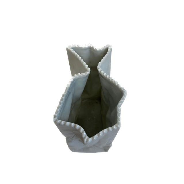 Mid-Century Modern Rosenthal Tapio Wirkkala Bag Vase For Sale - Image 3 of 4