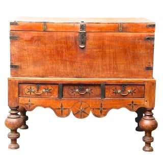 Antique Ceylon Chest on Stand For Sale