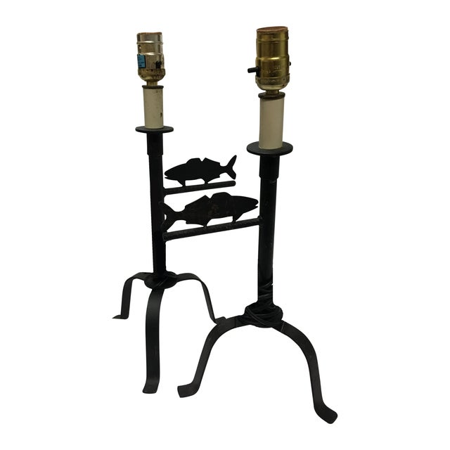 Iron Fish Cabin Decor Lamps - Pair - Image 1 of 7