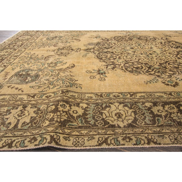 "Islamic Apadana Vintage Tabriz Rug - 6'6"" x 9'3"" For Sale - Image 3 of 7"