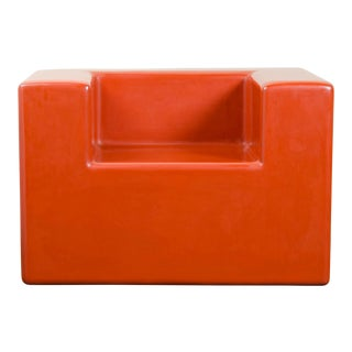 Arm Rest Chair - Coral Lacquer by Robert Kuo, Hand Made, Limited Edition For Sale
