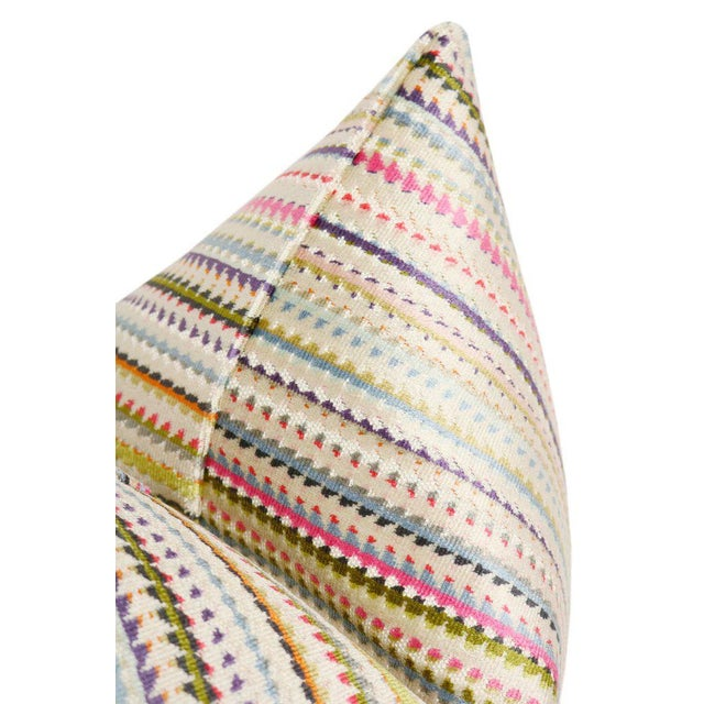 """Contemporary 22"""" Multicolor Cut Velvet Pillow Cover For Sale - Image 3 of 5"""