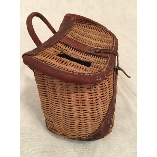 Antique Woven Creel Basket - Image 5 of 7