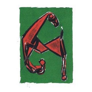 """Marino Marini """"Cheval Vert et Rouge"""""""