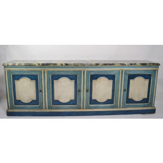 Hollywood Regency Server Credenza With Faux Marble Top Preview