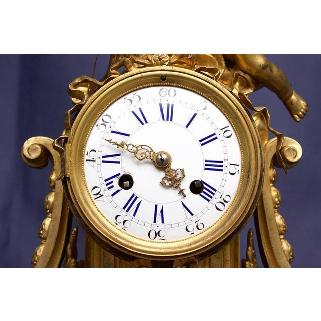 Bronze Early 19th Century Antique French Louis XVI Style Figural Clock For Sale - Image 7 of 11