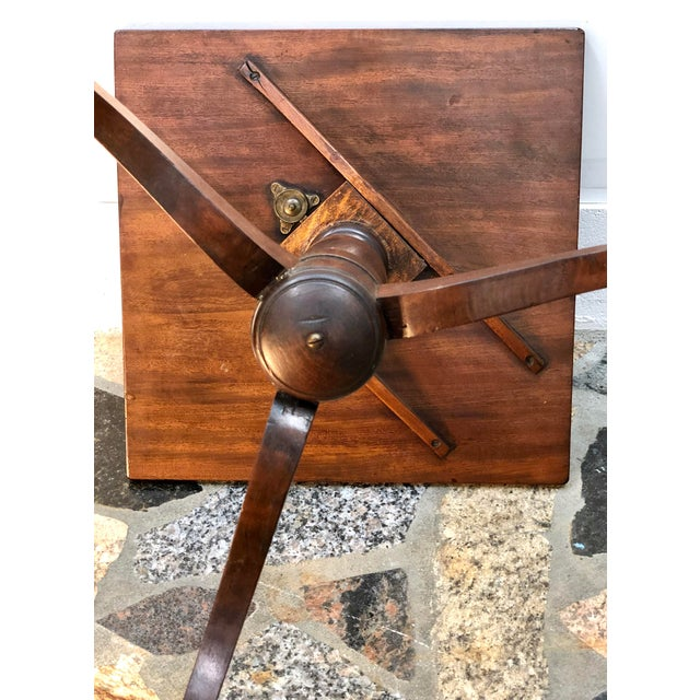 19th Century Federal Mahogany Tilt Top Candle Stand Table For Sale - Image 12 of 13