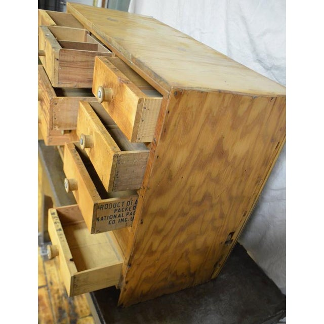 Vintage Handcrafted 15-Drawer Pine Storage Cabinet - Image 7 of 10
