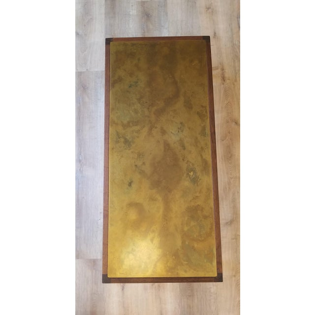 Harry Lunstead's signature acid-etched copper inlay makes a stunning feature to any living room. The walnut frame creates...