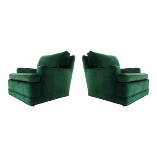 "Pair of Billy Haines Style ""Seniah"" Chairs in Green Upholstery For Sale"
