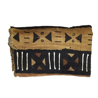 "Bogolan Mali Mud Cloth Textile 43"" by 64"" For Sale"