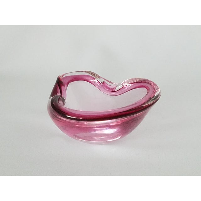 Petite Cherry Pink Murano Glass Ashtray - Image 6 of 9